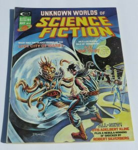 Unknown Worlds of Science Fiction #4 VG/FN 1975 Magazine Lost City of Mars Weird