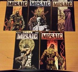 MOSAIC 1-5 Complete Run! ~ NEAR MINT NM ~ 1999 Sirius Comics