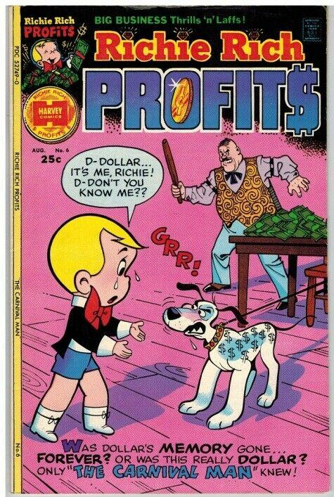 RICHIE RICH PROFITS (1974-1982) 6 F-VF Aug. 1975