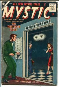 Mystic #61 1957-Atlas-eyeball cover-horror-mystery-VG