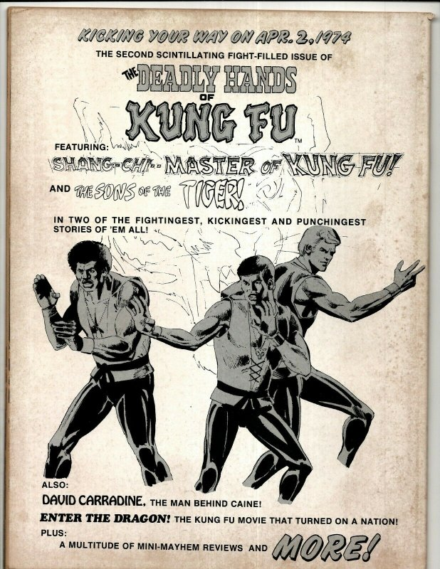 8 Deadly Hands Of Kung Fu Magazines # 1 3 4 6 7 8 9 + Special Album Edition RS3