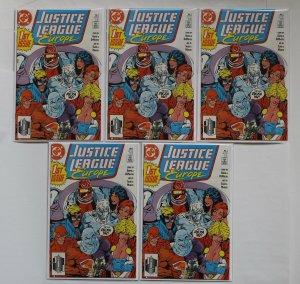 Justice League Europe #1 5 Copies DC Comics 1989 Series Unread NM+ 9.6/9.8