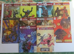 Black Panther vs Deadpool #1-5 Complete Set + Variants High Grade NM+ Marvel