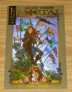 More Than Mortal: Truths & Legends #1 VF/NM gold foil variant  wizard world 1998