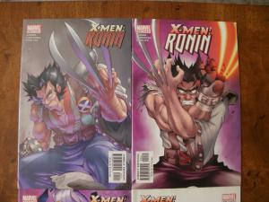 X-Men: Ronin #1 #2 #3 #5 (Marvel Limited Series) 2003