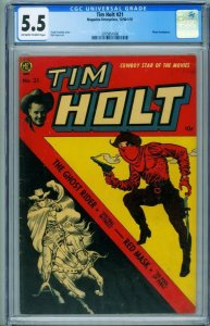 Tim Holt #21 CGC 5.5 1950-Frank Frazetta cover-Red Mask-Ghost Rider 3705851006