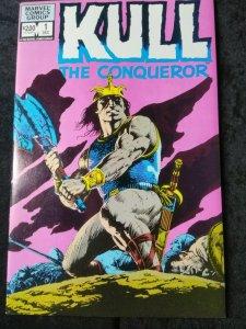 Kull the Conqueror #1 Vol 1 and #1 Vol 3 Jusko cover Buscema cover