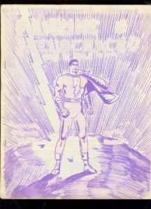 FANZINE ILLUSTRATED #3-CAPTAIN MARVEL-SPIRIT-ORIGINAL   FN