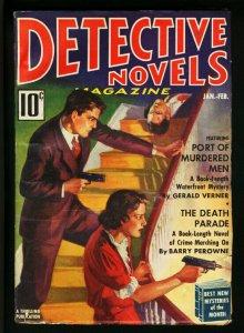 DETECTIVE NOVELS #1-1938 JAN-FEB-DEATH ON STAIRCASE-GGA FN