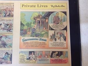 Superman Original Newspaper Comic Strip 1942 Atlanta Journal Framed & Matted BNT