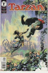 Tarzan(Dark Horse) # 1 Jane struck down by Mutated Ape !
