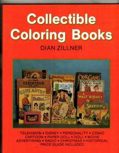 Collectible Coloring Books Dian Zillner Schiffer Book 1992 TV Disney Comic JK1