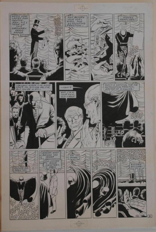 PAUL GULACY / DAN ADKINS original art, CODENAME DANGER  #4, pg 8, 11x17, Magic