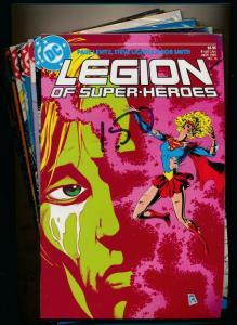 DC LOT OF 12- LEGION OF SUPER-HEROES #6-9,16('85),19,22('86)&#1-5('84) (PF363)