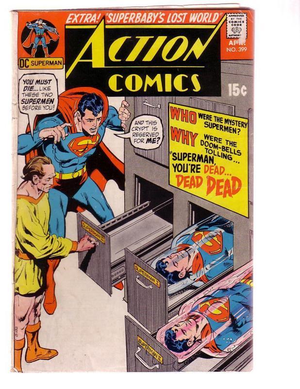 ACTION COMICS #399 1971-SUPERMAN-DC COMICS NEAL ADAMS G