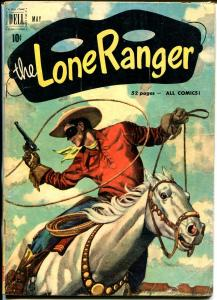 Lone Ranger #35 1951-Dell-Tonto Silver-early red shirt issue-VG