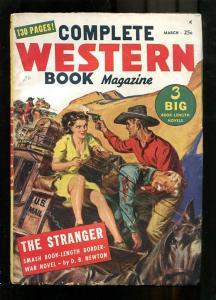 COMPLETE WESTERN PULP-1948-MAR-SAUNDERS GGA LEGS COVER! FN-