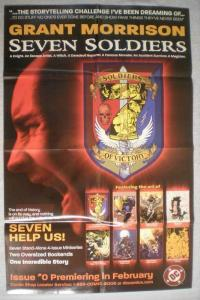 GRANT MORRISON SEVEN SOLDIERS Promo Poster, Unused, more in our store