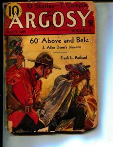 Argosy-Pulp-10/23/193-Frank H. Shaw-H. M. Sutherland