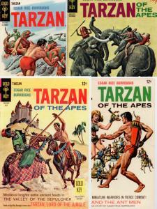 Tarzan (4 Gold Key issues) #174, 177, 181, 197 MID-GRADE