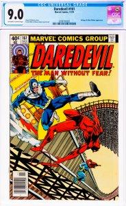 Daredevil #161 CGC Graded 9.0 Bullseye & Black Widow appearance.