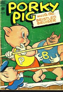 PORKY PIG FOUR COLOR #330 DELL 1951 EGYPTIAN COLLECTION G