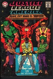 JUSTICE LEAGUE OF AMERICA #57 1967-DC-U.N. COVER-BATMAN-DC VF