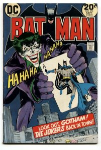BATMAN #251 DC 1973 Classic Joker Playing Card cover VG/FN -Neal Adams