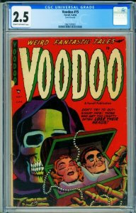 VOODOO-#15 CGC 2.5 1954-SEVERED HEADS-OPIUM-DRUG USE 2067107001