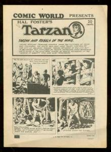 COMIC WORLD PRESENTS HAL FOSTER'S TARZAN-COMIC STRIP reprint