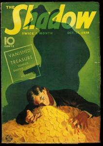 SHADOW 1938 OCT 15-VANISHED TREASURE -STREET AND SMITH FN/VF
