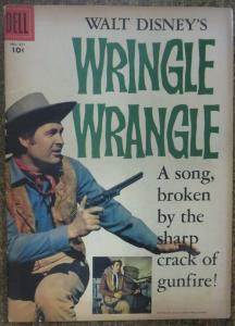 FOUR COLOR COMICS (Dell, 8/1957) #821 VG Disney's Wringle Wrangle. Photo Cover