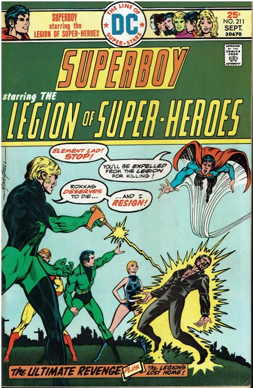 Superboy and the Legion of Super Heroes #211, 6.0 or better