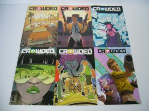 Crowded #1-6 VF/NM complete series - a fun take on crowd-funding murder - set