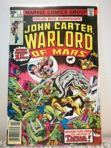 John Carter Warlord Of Mars July 1977 Marvel Comics #1 grade 7.0 fine condition