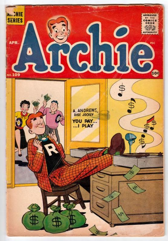 Archie #109 (Apr-60) VG- Affordable-Grade Archie