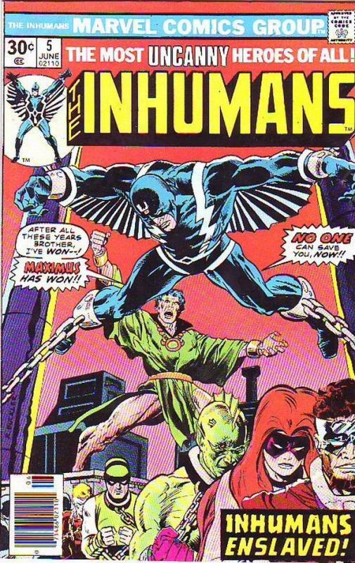 Inhumans, The #5 (Jun-76) VF- High-Grade Black Bolt, Gorgon, Triton, Karnak, ...