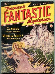 Famous Fantastic Mysteries Pulp April 1941- Francis Stevens- Will McMorrow