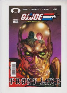 G.I. JOE A REAL AMERICAN HERO FRONT LINE #2 1MAGE / DIRECT SALES