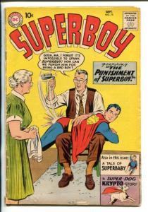 SUPERBOY #75-1959-DC-SPANKING COVER-KRYPTO STORY-good