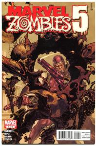 MARVEL ZOMBIES 5 : #1 2 3 4 5, VF/NM, Howard the Duck, Machine Man, Undead, 2010