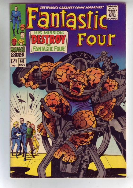 Fantastic Four #68 (Nov-67) VF- High-Grade Fantastic Four, Mr. Fantastic (Ree...