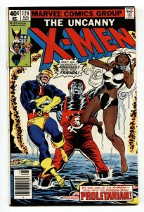 UNCANNY X-MEN #124 comic book 1979-MARVEL COMICS-PROLETARIAN ISSUE VF