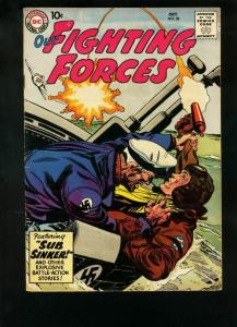 OUR FIGHTING FORCES #38 1958-SUBMARINE COVER & STORY-WW FN