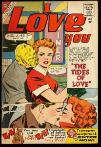 I LOVE YOU #29-'60-RARE CHARLTON ROMANCE-WAITRESS COVER VG