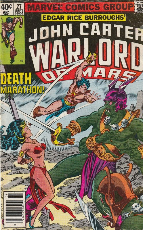 John Carter Warlord of Mars(Marvel) # 16, 20, 27, 28