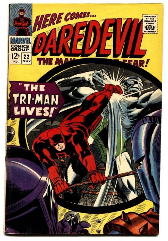 DAREDEVIL #22 comic book-1966 MARVEL-GENE COLAN ART Silver-Age