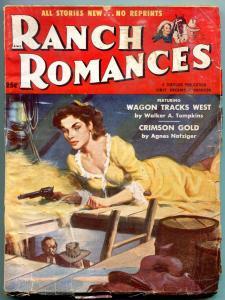 Ranch Romances Pulp 1st December 1954-Crimson Gold-Wagon Tracks West