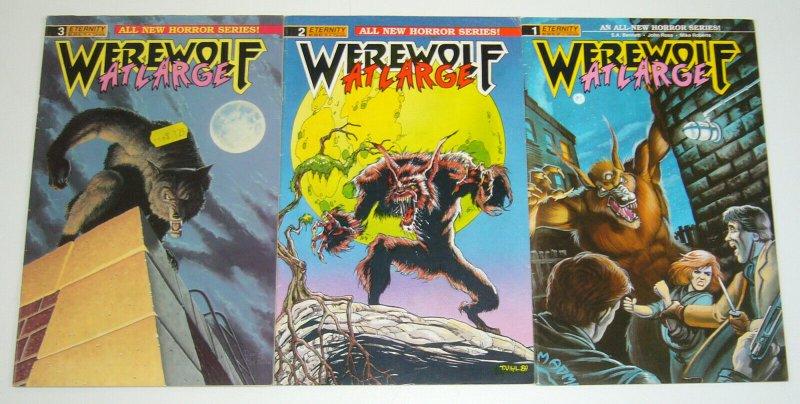Werewolf At Large #1-3 FN complete series - tim vigil  eternity comics horror 2