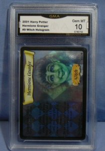 2001 Harry Potter TCG Hermione Granger #9 Witch Hologram Card - Graded MINT 10